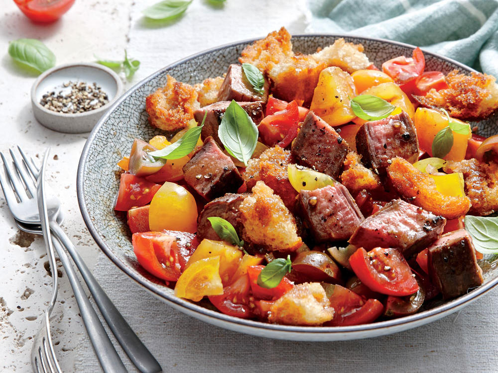 Steak et tomate Panzanella