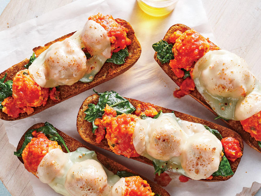 Second Meal: Open-Faced Meatball Subs