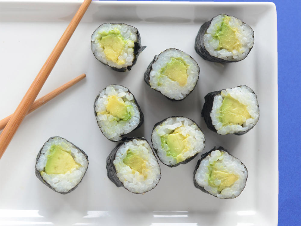 Such an easy and nutritious snack. Truly the simplest roll and once you master this one, feel free to add any additional ingredients you think would pair well such as crunchy cucumber and cooked shrimp.