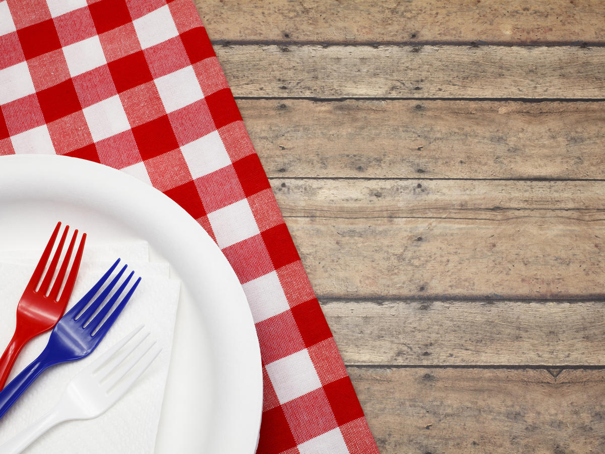 4th of july patriotic plate