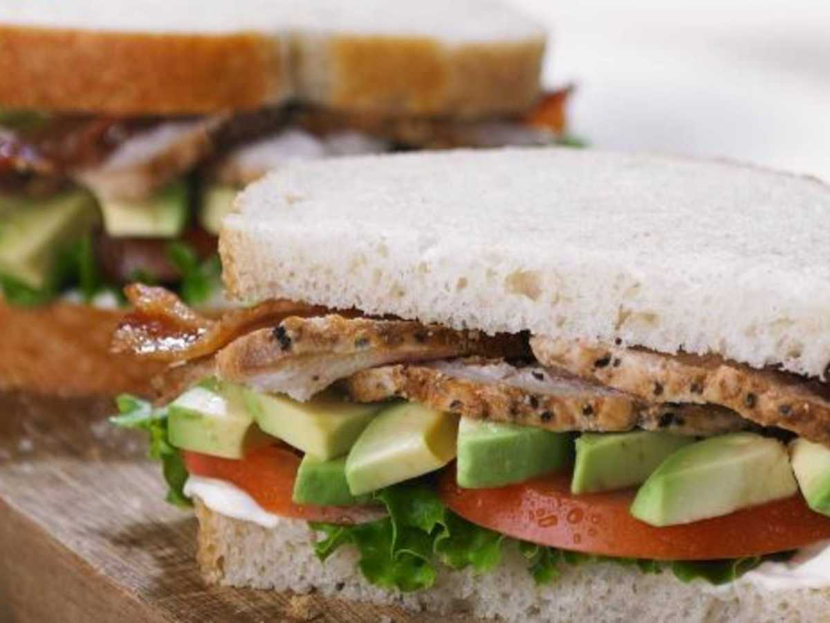 Panera Bread Roasted Turkey and Avocado BLT Sandwich