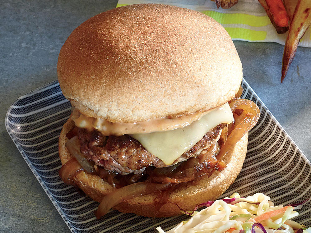 All American Grilled Burger Recipe Cooking Light