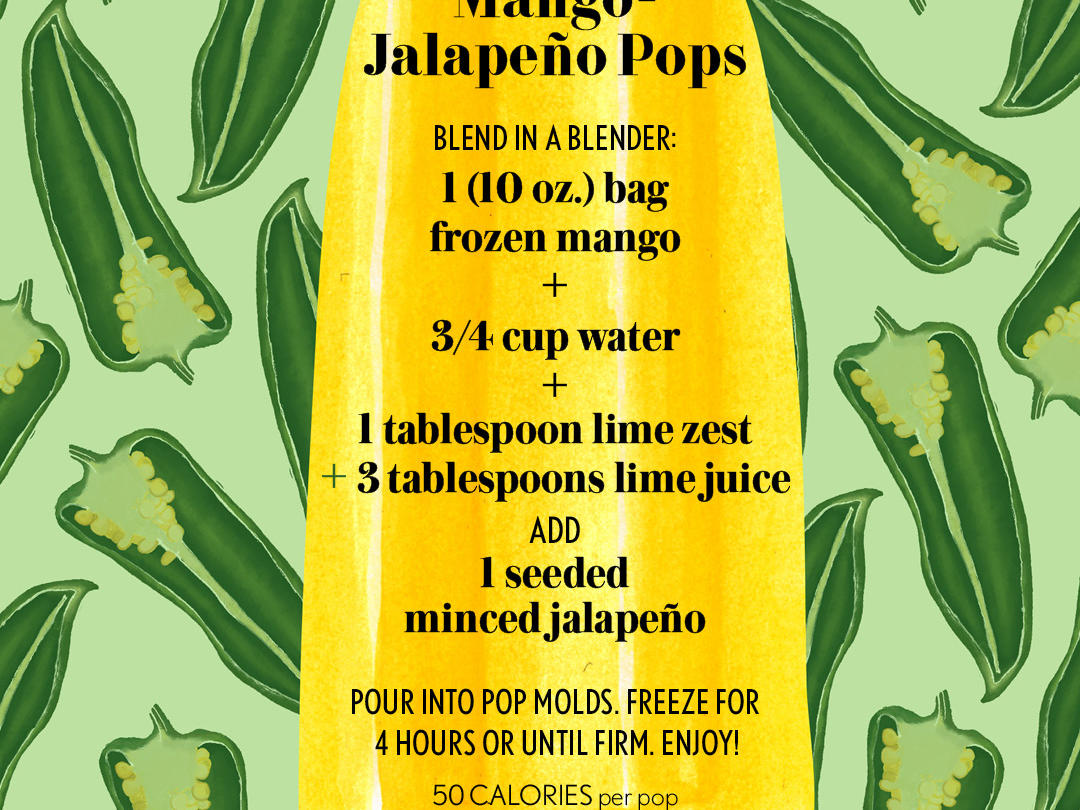 3 Ingredient Mango Jalapeno Pop Text