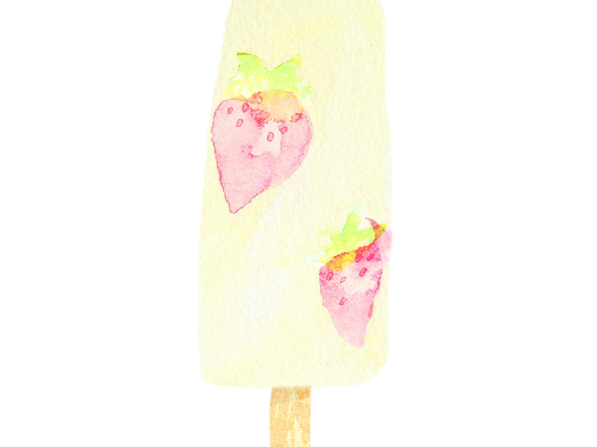 Dairy-Free Strawberries and Cream Pops