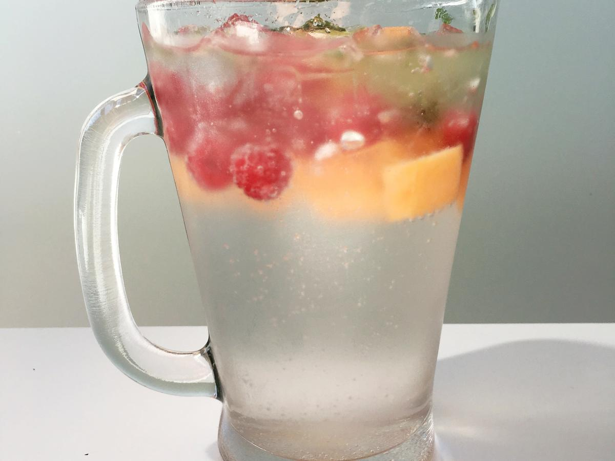 Lime + Mint + Raspberry + Cantaloupe