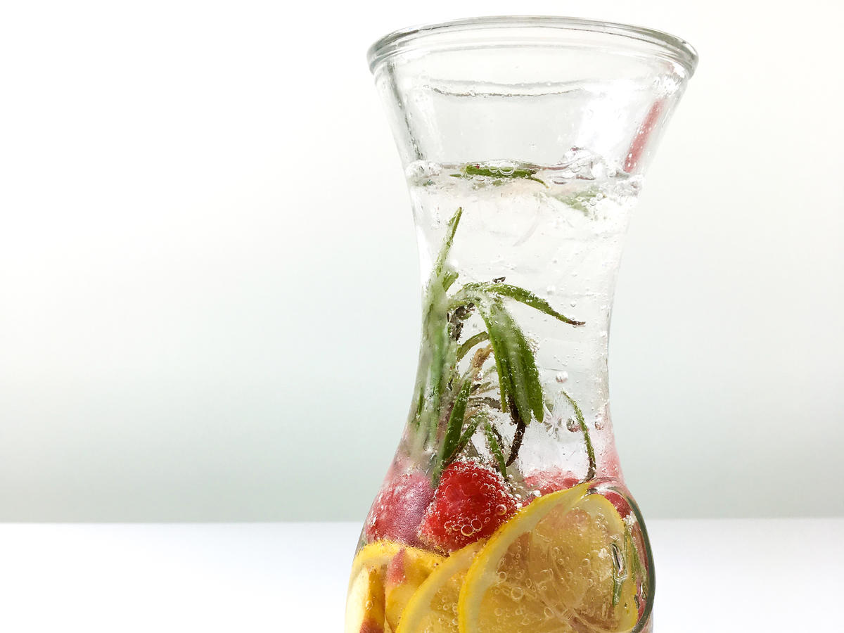 Peaches + Lemon + Raspberry + Rosemary