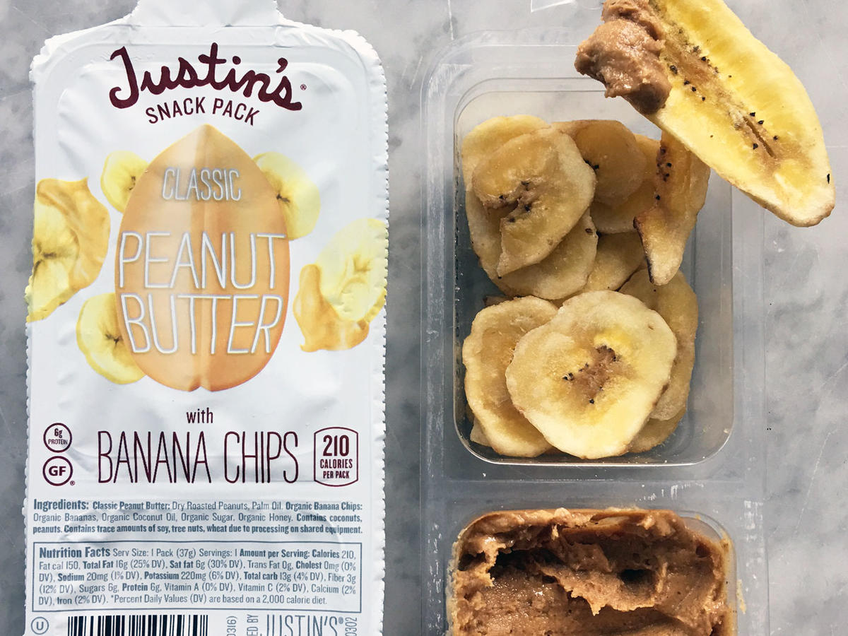 All-natural nut butter favorite Justin's released their first snack pack last year with nut butters and pretzels. The newest addition to their snack packs line, Classic Peanut Butter + Banana Chips, is their best one yet. One pack is high in saturated fat thanks to oils used in the banana chips, but don't be deterred. The protein-rich nut butter packs in 6 grams of protein and 3 grams of fiber. This PB + banana snack is a sure winner with all ages but college students will especially appreciate having these grab-and-go packs on hand at all times. 