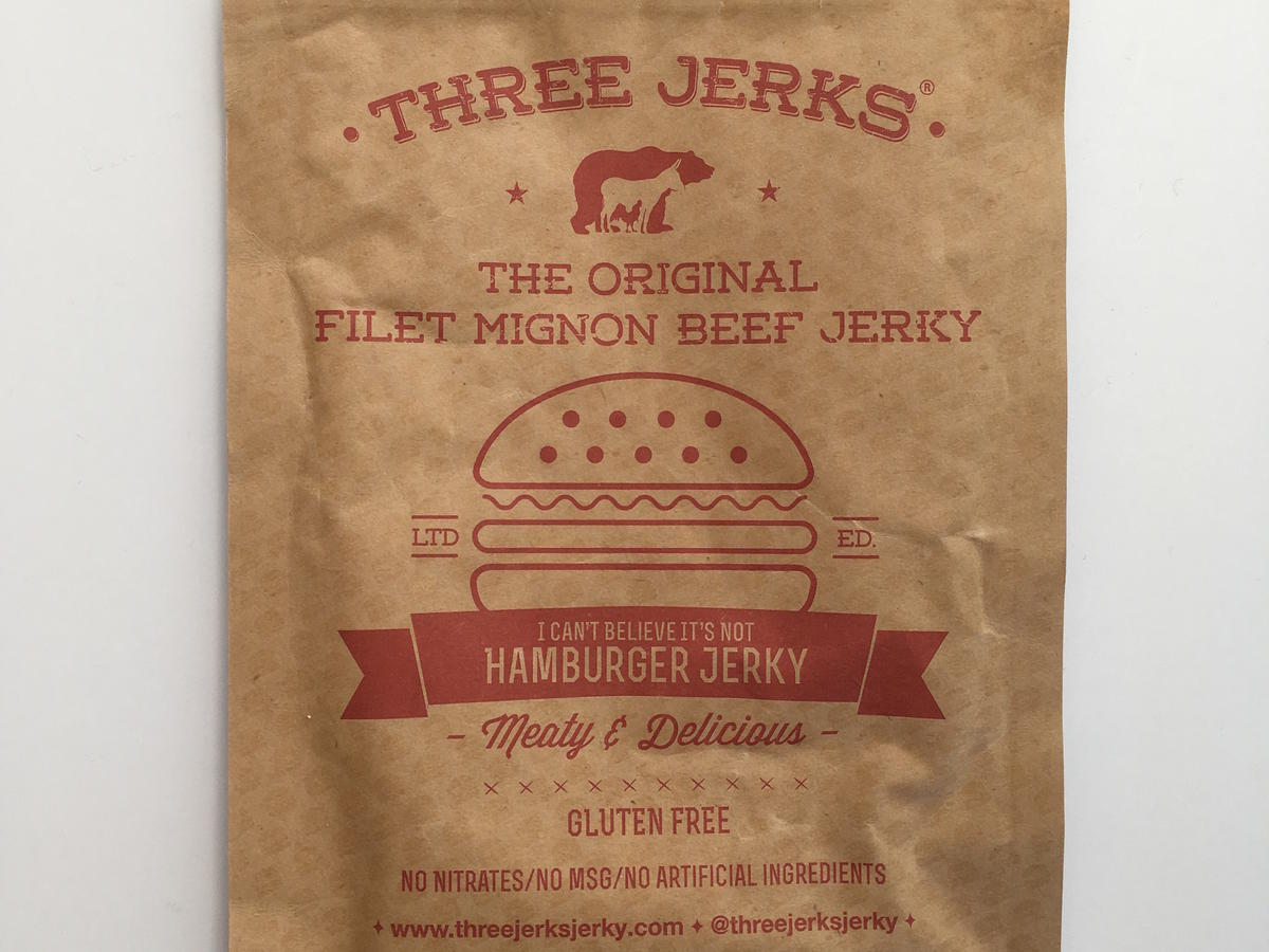 Three Jerks Filet Mignon Hamburger Beef Jerky