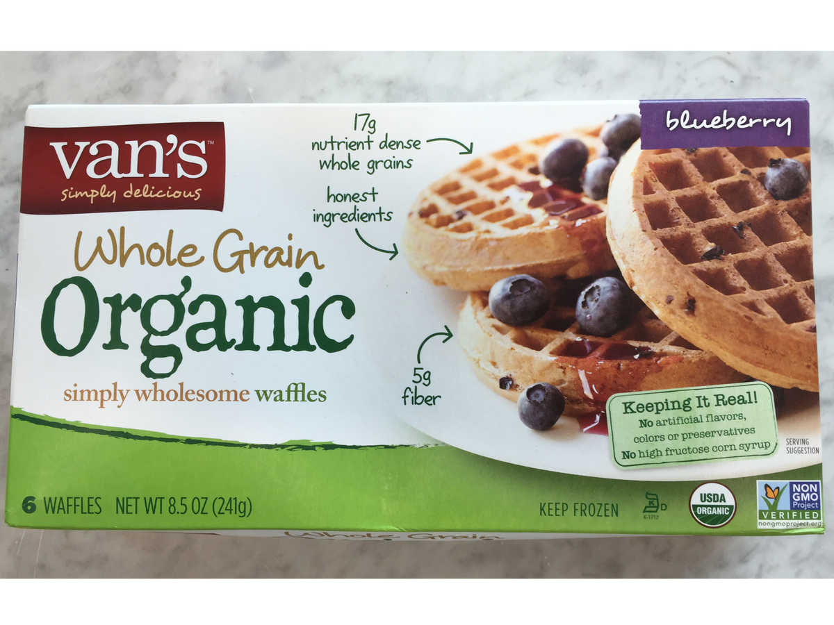 Frozen Food Van's Whole Grain Blueberry Waffles