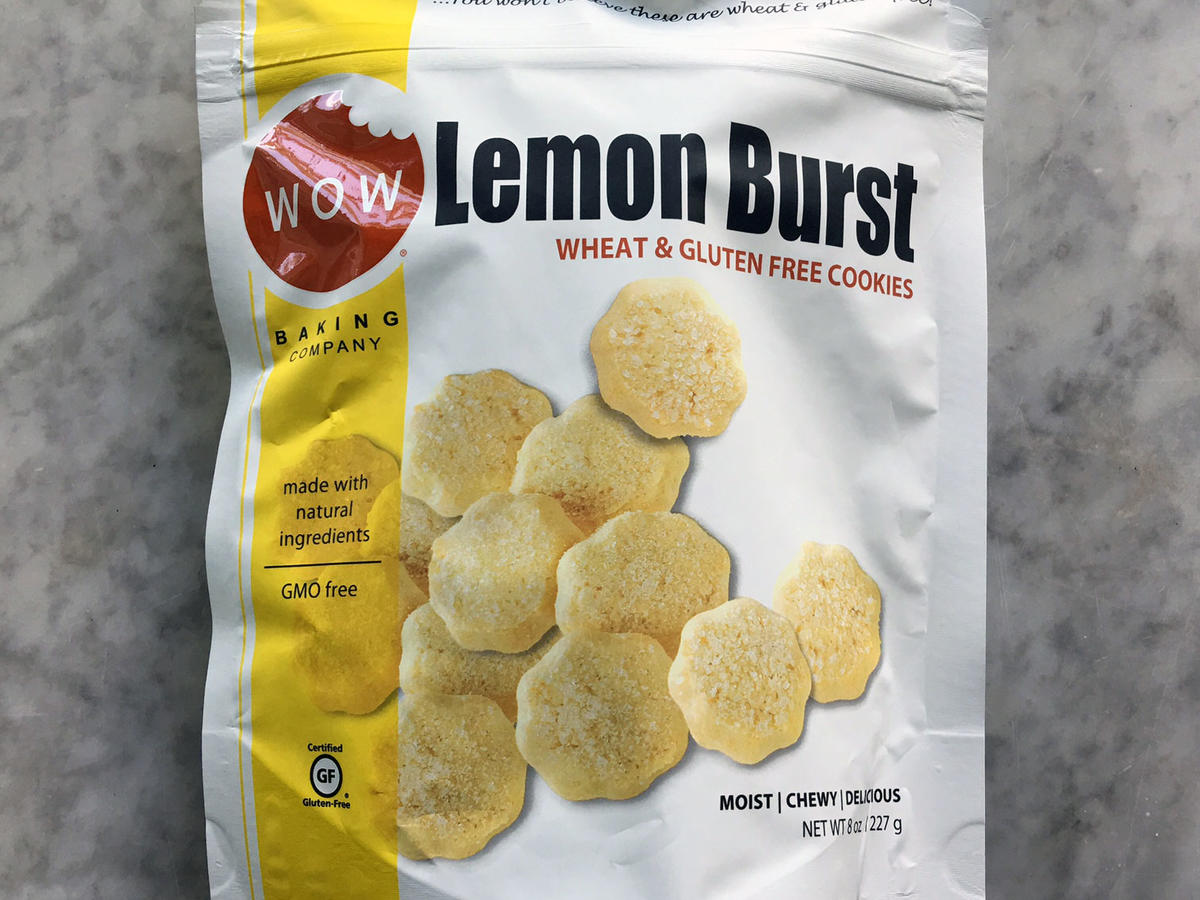 Snack cookies are a dime a dozen, but that doesn't mean they all should be thrown into a care package. Focus on finding whole-grain versions of sweet favorites. In this case Wow Baking Company's Lemon Burst Cookies are made with a gluten-free flour blend that contains whole-grain brown rice. It's not 100% whole grain, but it's better than enriched wheat flour. 