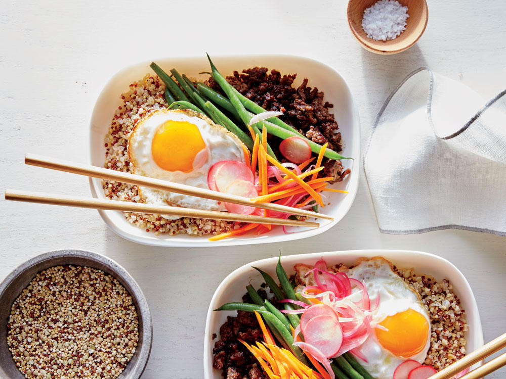 22 heart healthy foods to fuel your cardiac diet cooking light quinoa bibimbop bowls forumfinder Image collections