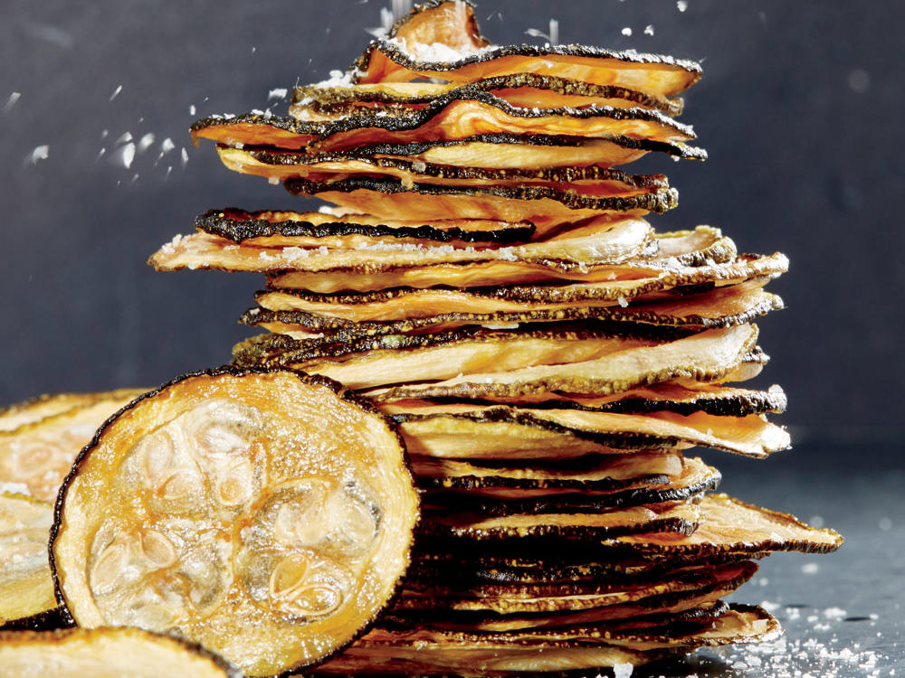 Light, crisp, and just as good as their junk-food counterparts, these veggie chips are a revelation. Malt vinegar is made from fermented ale and is mildly sweet. If you prefer a sharper flavor, substitute cider vinegar or white vinegar. The best way to get uniform slices? Use a mandoline.