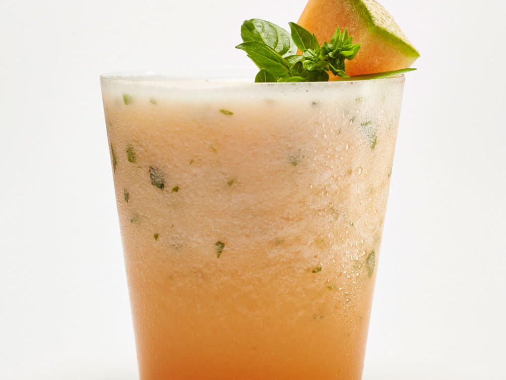 Cantaloupe-Basil Float