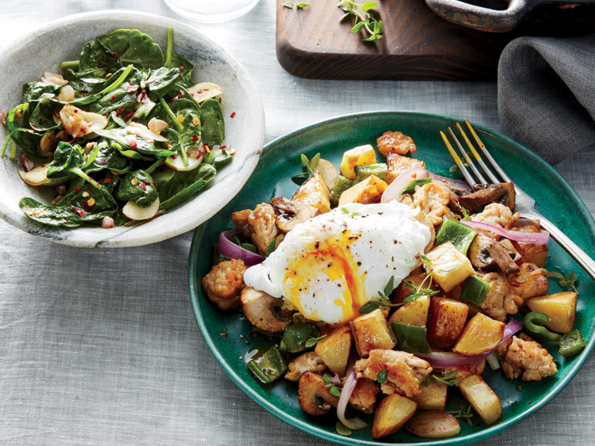 Chicken and Chile Hash