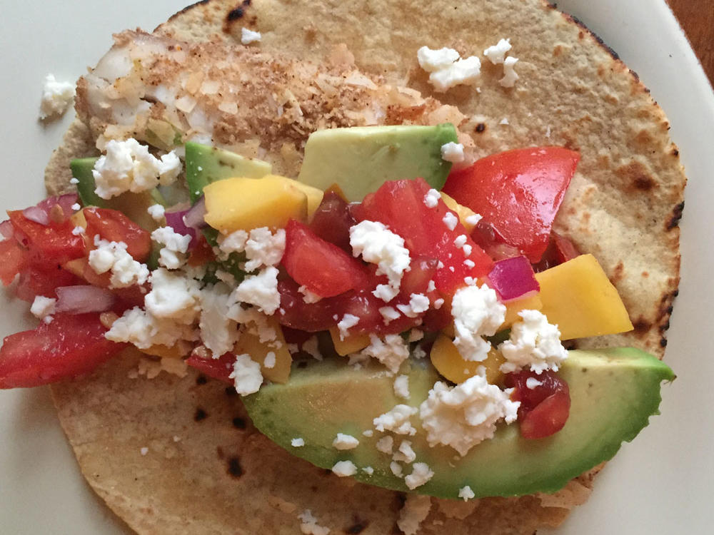 Coconut Crusted Fish Tacos