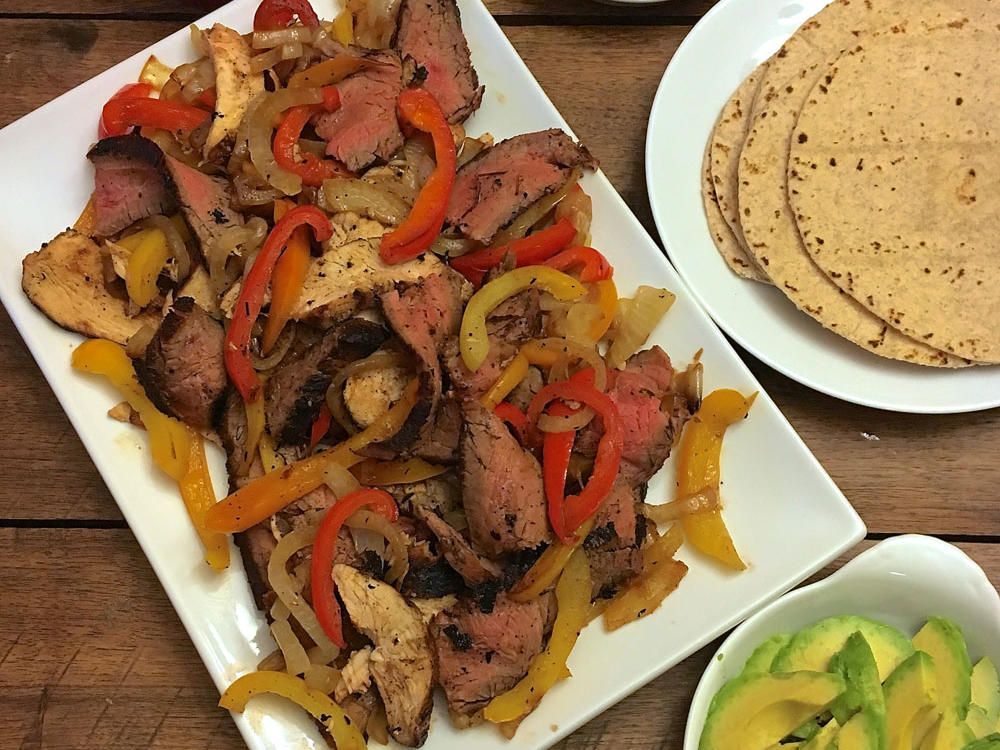 Grilled Chicken and Steak Fajitas