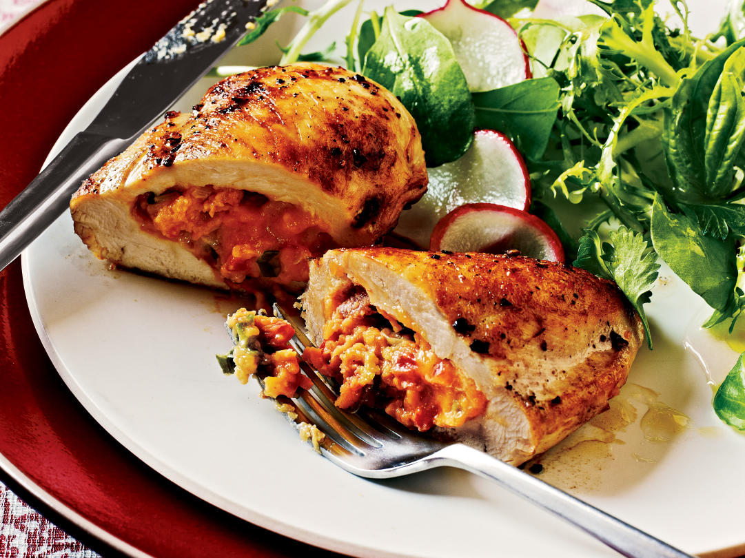 50 healthy chicken breast recipes cooking light for Different meals to make with chicken