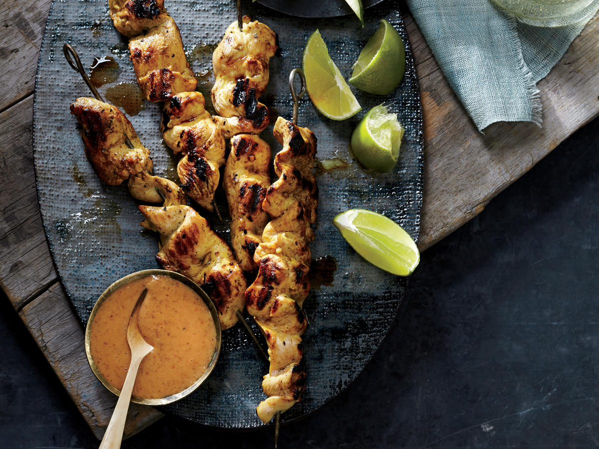 Asian: Almond Butter Chicken Satay