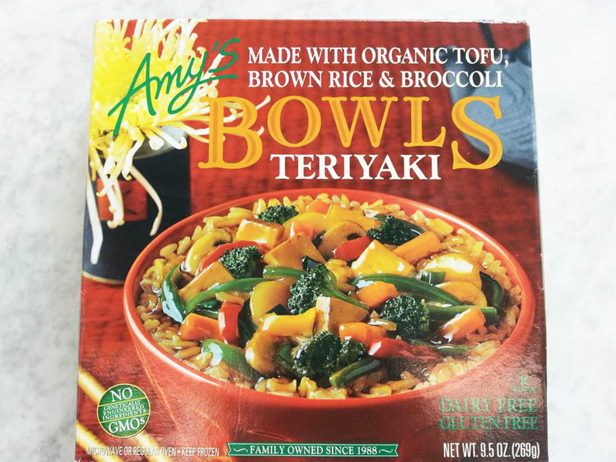 Frozen Food Amys Teriyaki Bowl