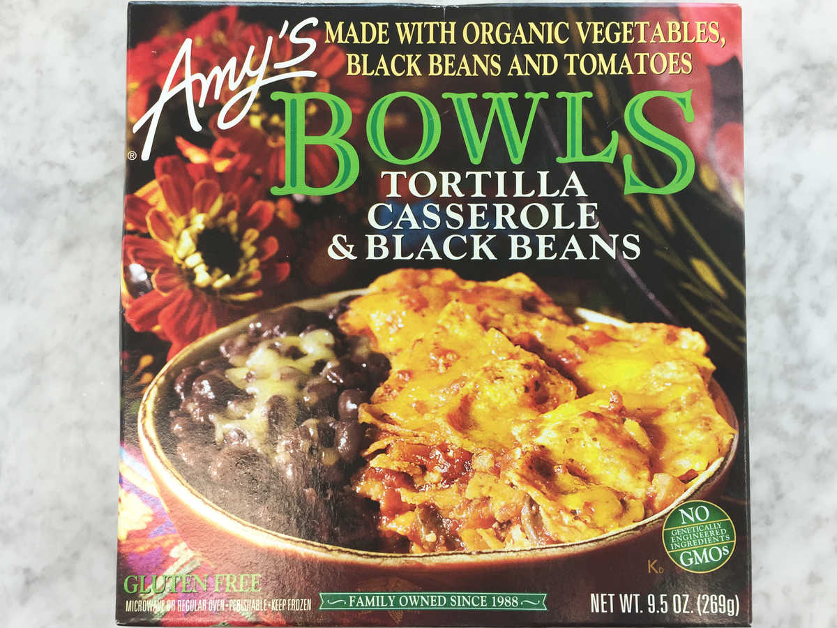 Frozen Food Amys Tortilla Casserole and Black Beans