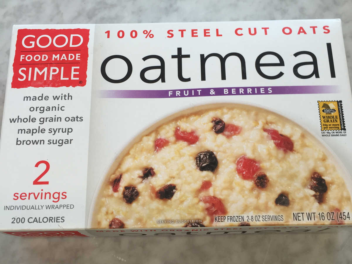 Frozen Food Good Food Made Simple Fruit and Berry Oatmeal