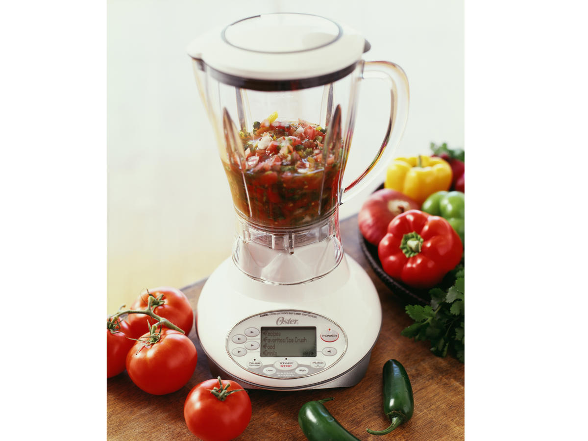salsa in a blender