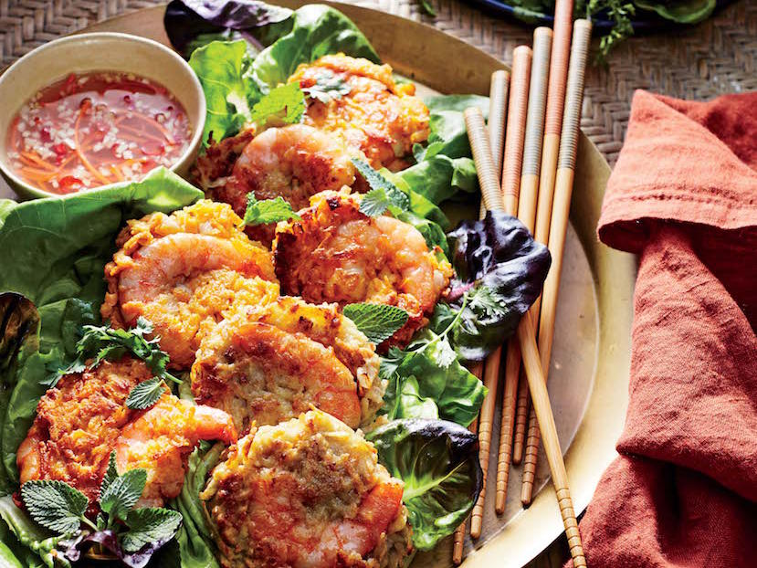 Sweet Potato and Shrimp Cakes with Nuoc Cham