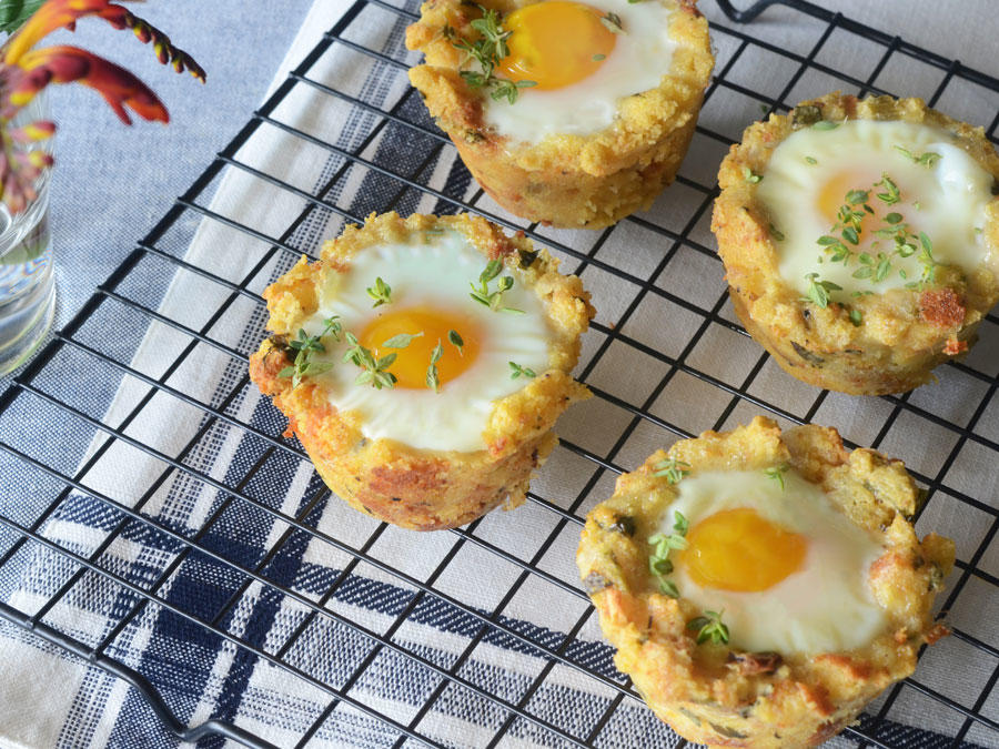 Thanksgiving Leftover Idea: Muffin Cup Stuffing  Scotch Egg