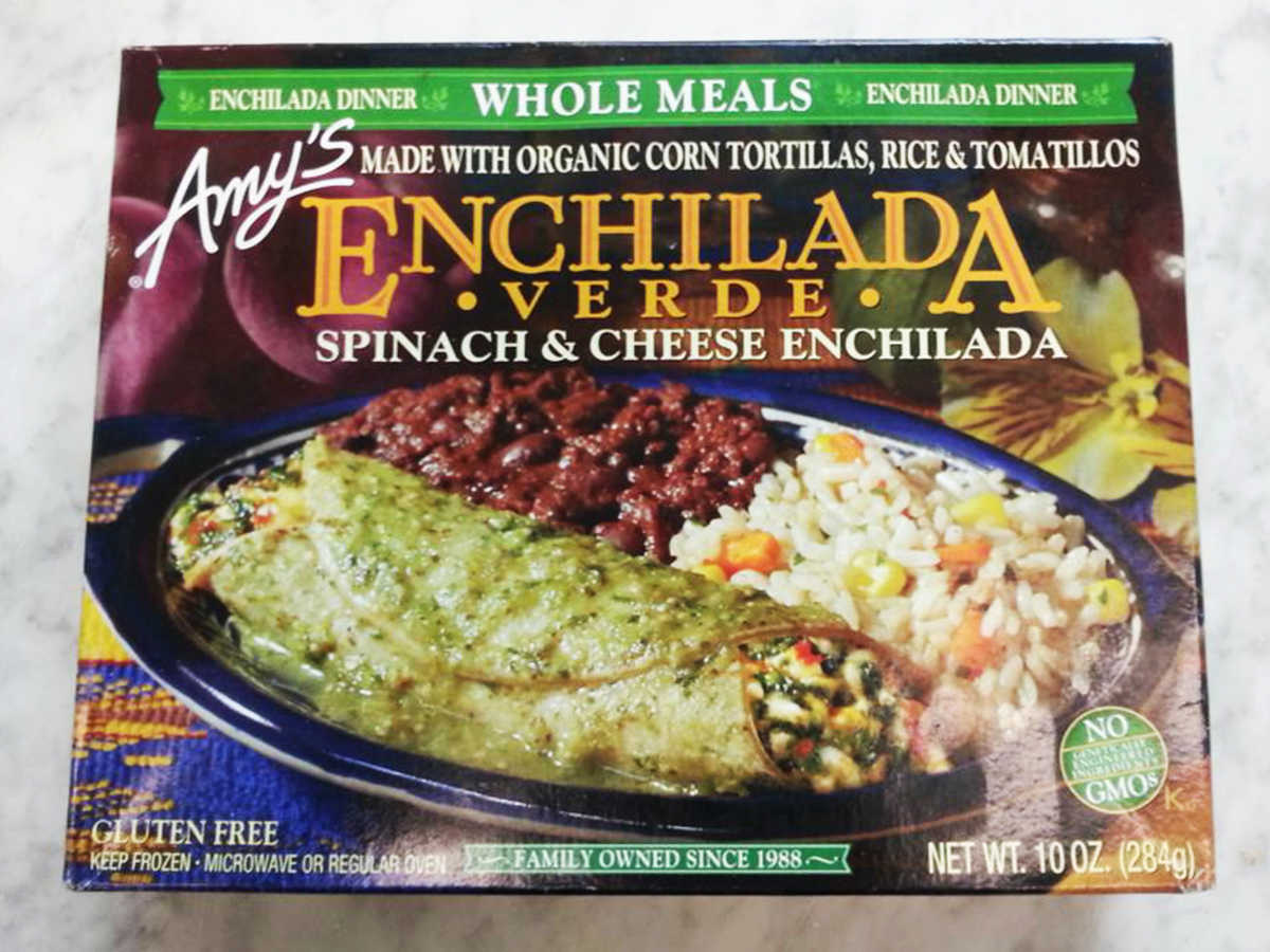 Frozen Food Amy's Whole Meals Spinach & Cheese Enchilada