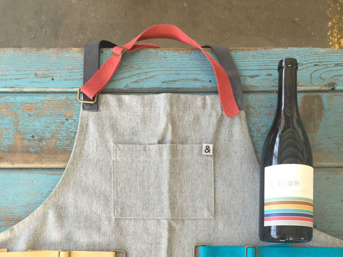 Hedley & Bennett, a popular brand started by Ellen Bennett, creates beautiful, handmade denim aprons in Los Angeles that are quite popular in the chef community. By purchasing Cultivate wines and products, 10% of profits are invested in schools to benefit the Franklin Covey The Leader In Me Program.