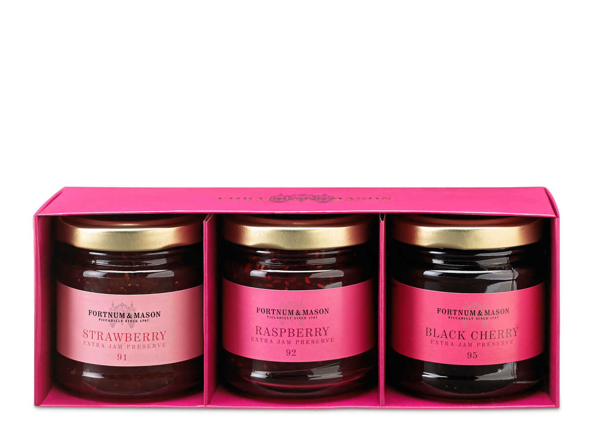 Offering a strawberry, raspberry, and black cherry preserve jar, these gifts offer a smooth and ever so sweet spread that's great on toasts, breakfast bread, or even a scoop of ice cream. Fortnum & Mason is an artisanal English brand that has been creating products for over 300 years, and we love the soft, aromatic notes that their preserves carry.