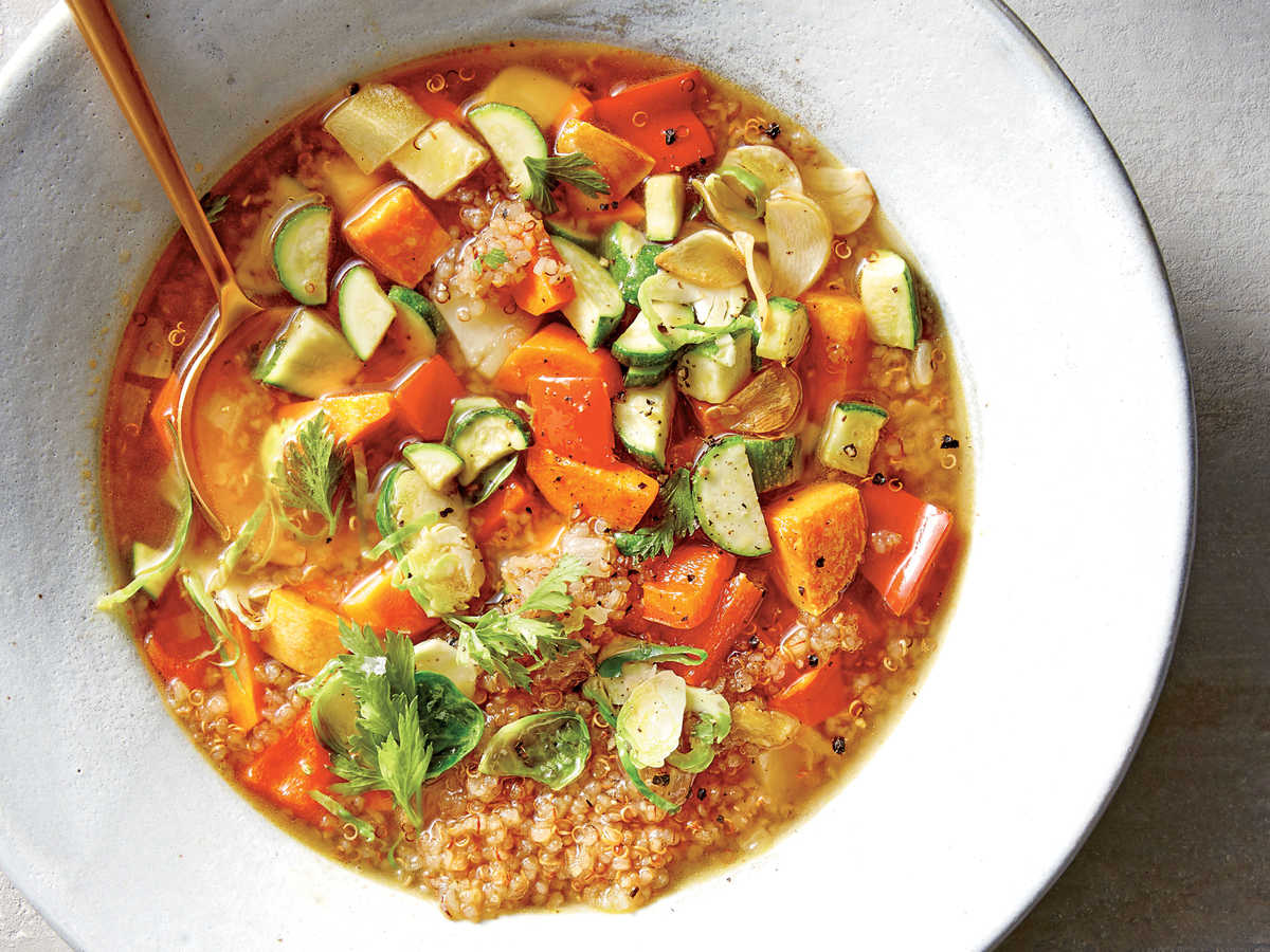 Cooking with quinoa 31 recipes cooking light veggie quinoa soup forumfinder Images