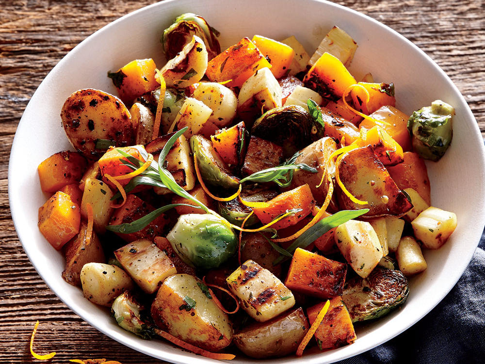 Orange-Tarragon Sheet Pan Roasted Vegetables