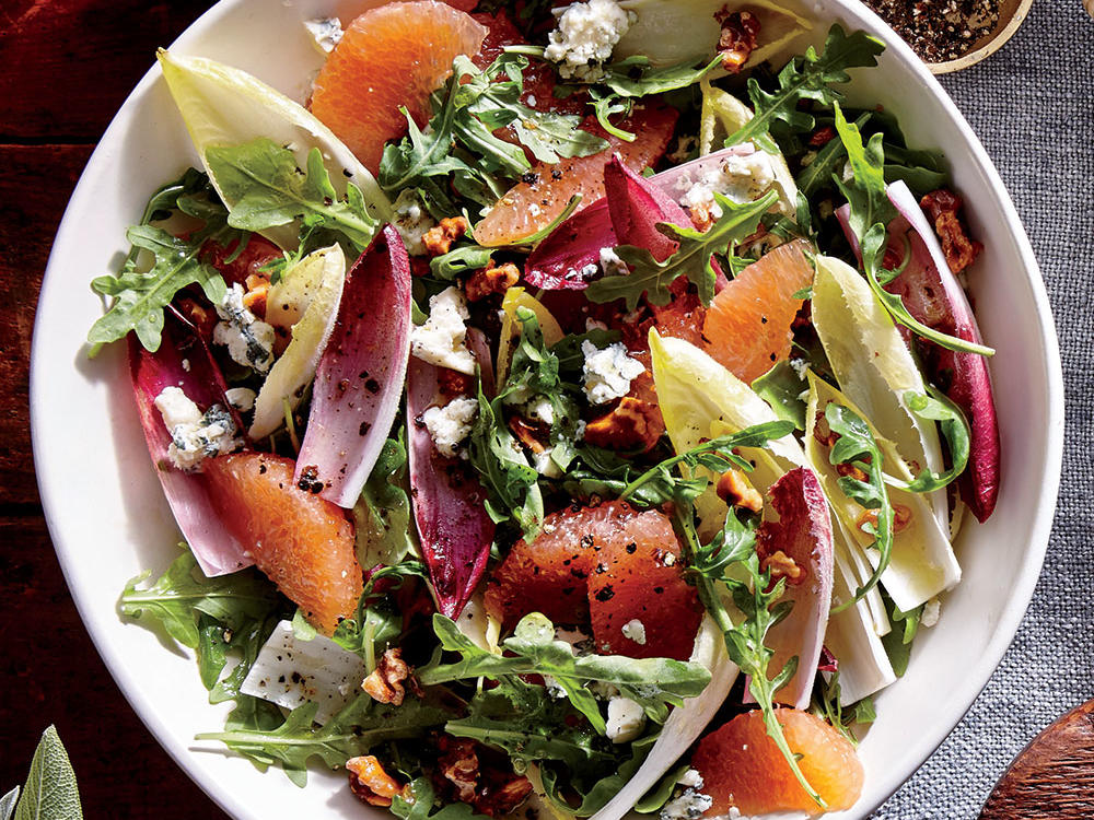 1611 Grapefruit, Endive, and Arugula Salad