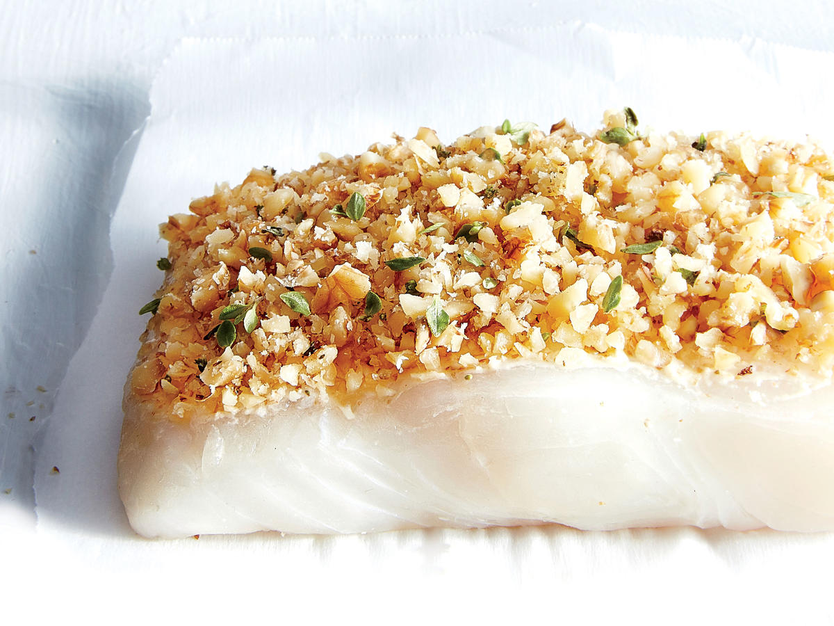 Walnut And Dijon Crusted Halibut Recipe Cooking Light