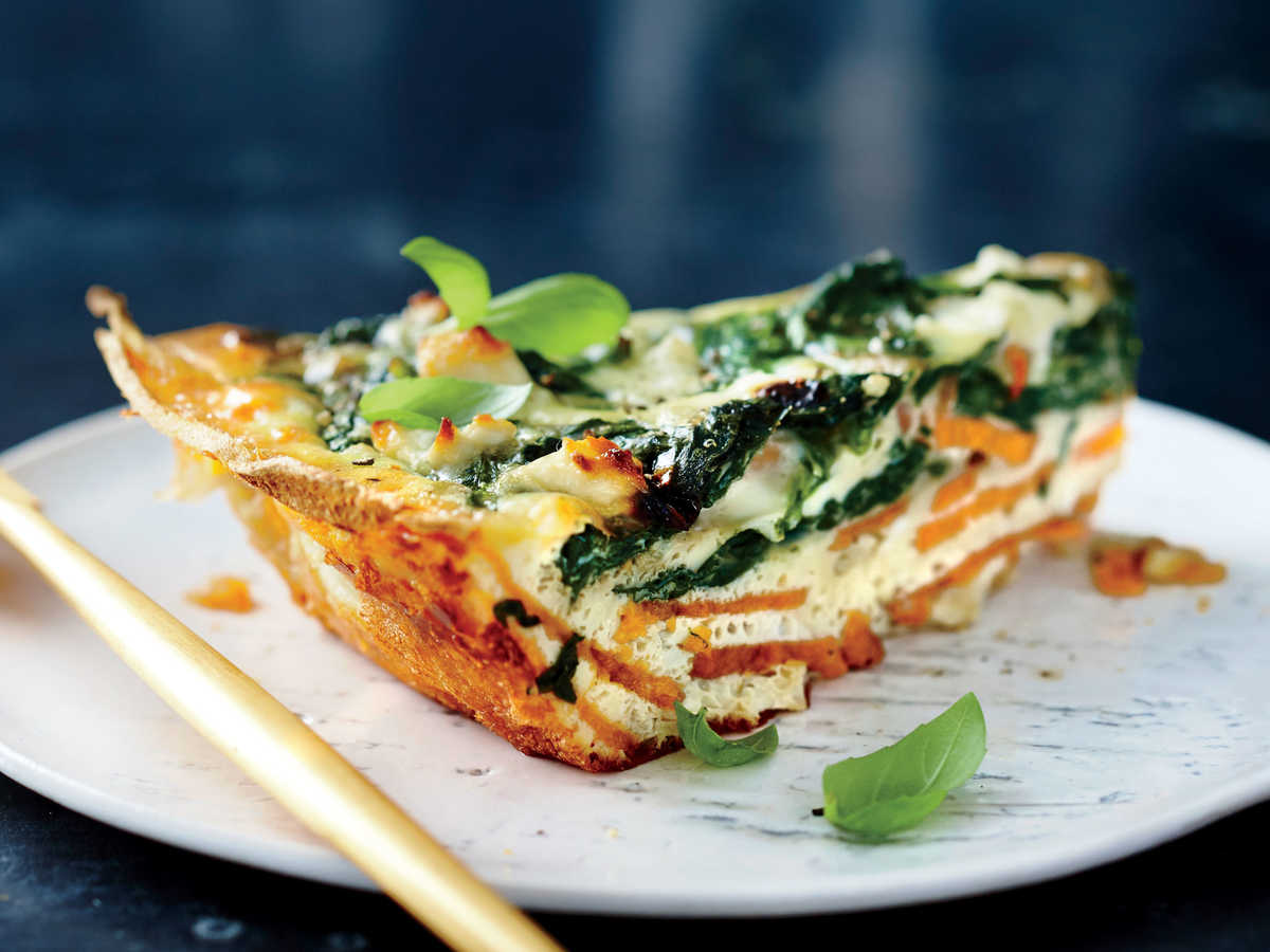Spinach and feta quiche with sweet potato crust recipe cooking light forumfinder Gallery