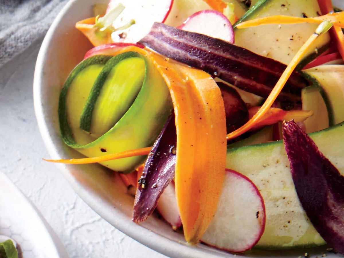 Zucchini, Carrot, and Radish Salad