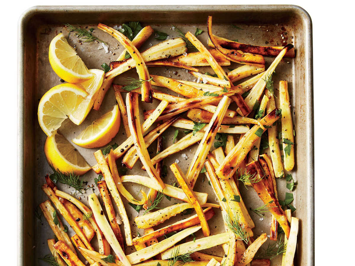 Roasted Parsnips with Lemon and Herbs