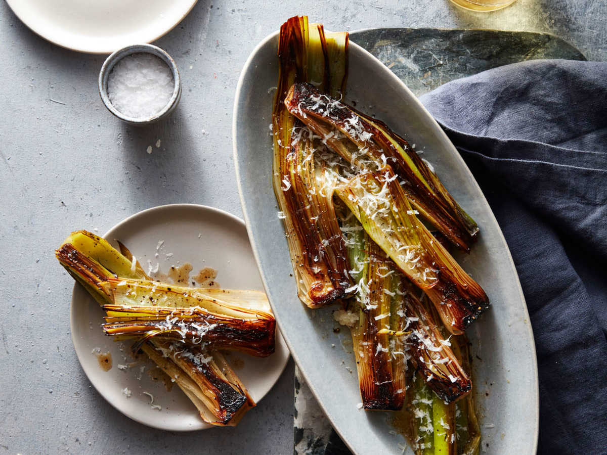 Braised Leeks with Parmesan Recipe - Cooking Light