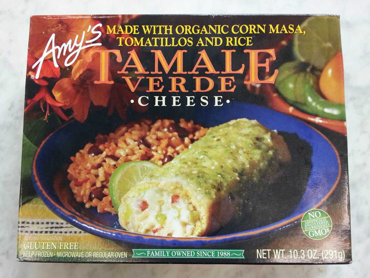 Frozen Food Amy's Cheese Tamale Verde