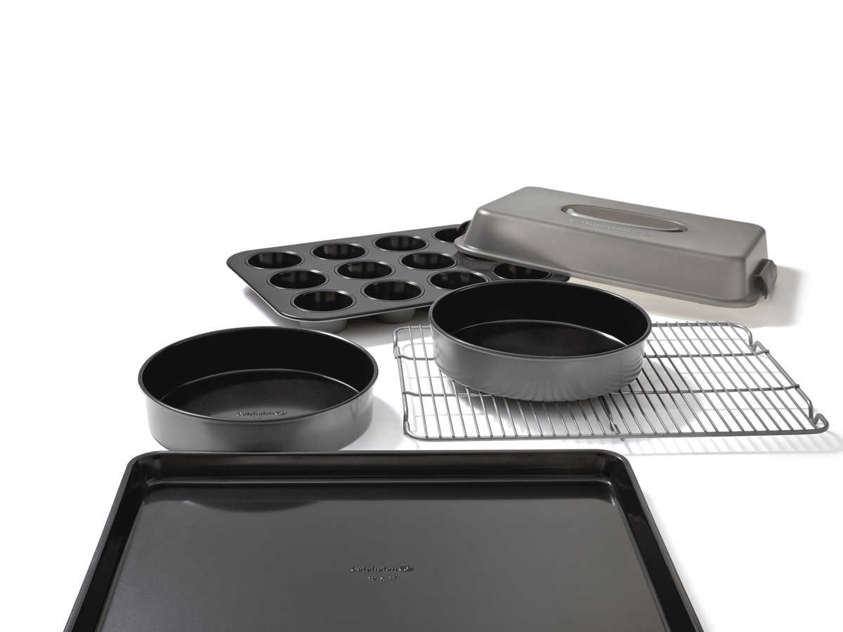 One of the titans of cookware launched its best-ever bakeware set this holiday season. Calphalon's new Signature Nonstick Bakewareis designed to be four times more durable than their previous Simply line. Each piece is ideal for the home cook, but it's made strong enough for professional performance. When it comes to bakeware, money spent is product earned. Investing in good baking pieces pays off beautifully in perfectly cooked brownies, cookies, cakes, and pies. Dishwasher and oven safe up to 500°F.                                                      $100, williamssonoma.com