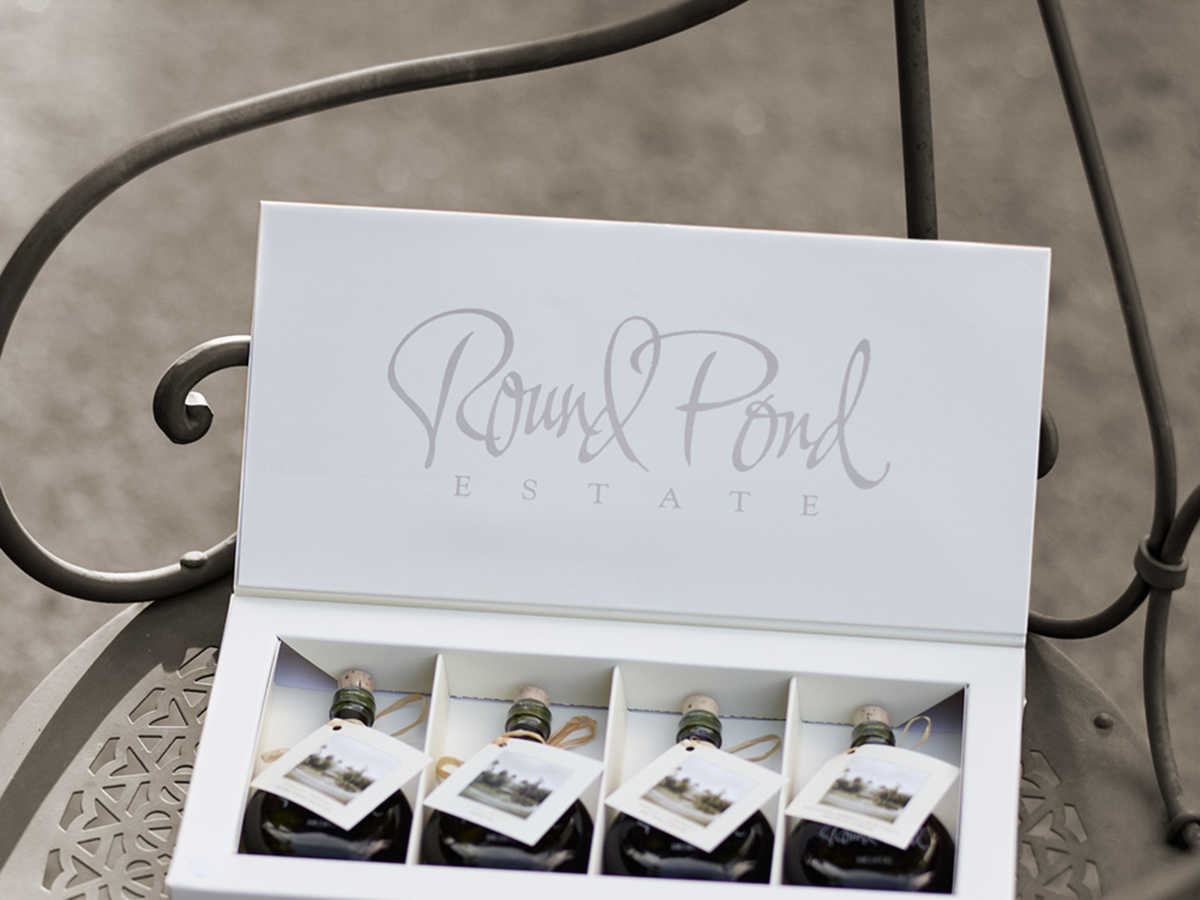 Round Pond Estate Mini 4-Bottle Oil and Vinegar Gift Set