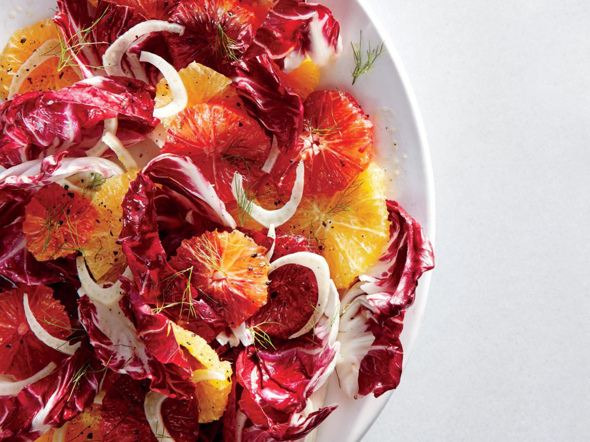This salad is a beautiful addition to any table spread with its vibrant orange and deep magenta hues. Hearty radicchio and fennel have real staying power—even after they've been tossed with dressing—which makes this ideal for times when you need a make-ahead salad for a buffet or to take to a potluck. We love the color of blood oranges, but you can use all naval or Cara Cara oranges.