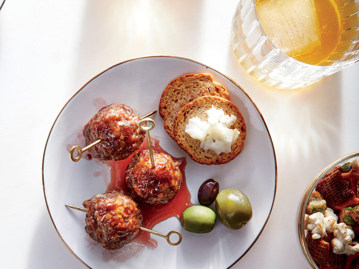 Glazed Cocktail Meatballs