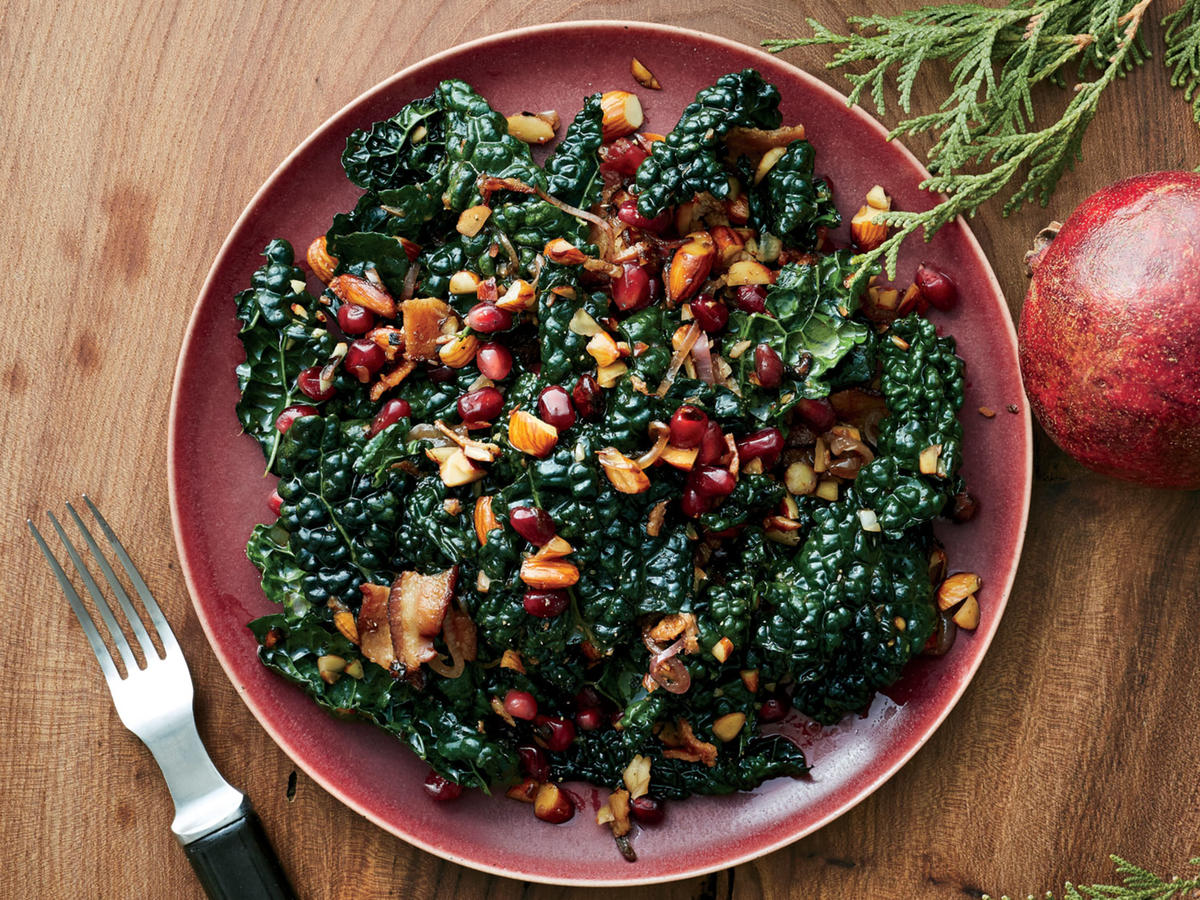 Kale and Pomegranate Salad Recipe - Cooking Light