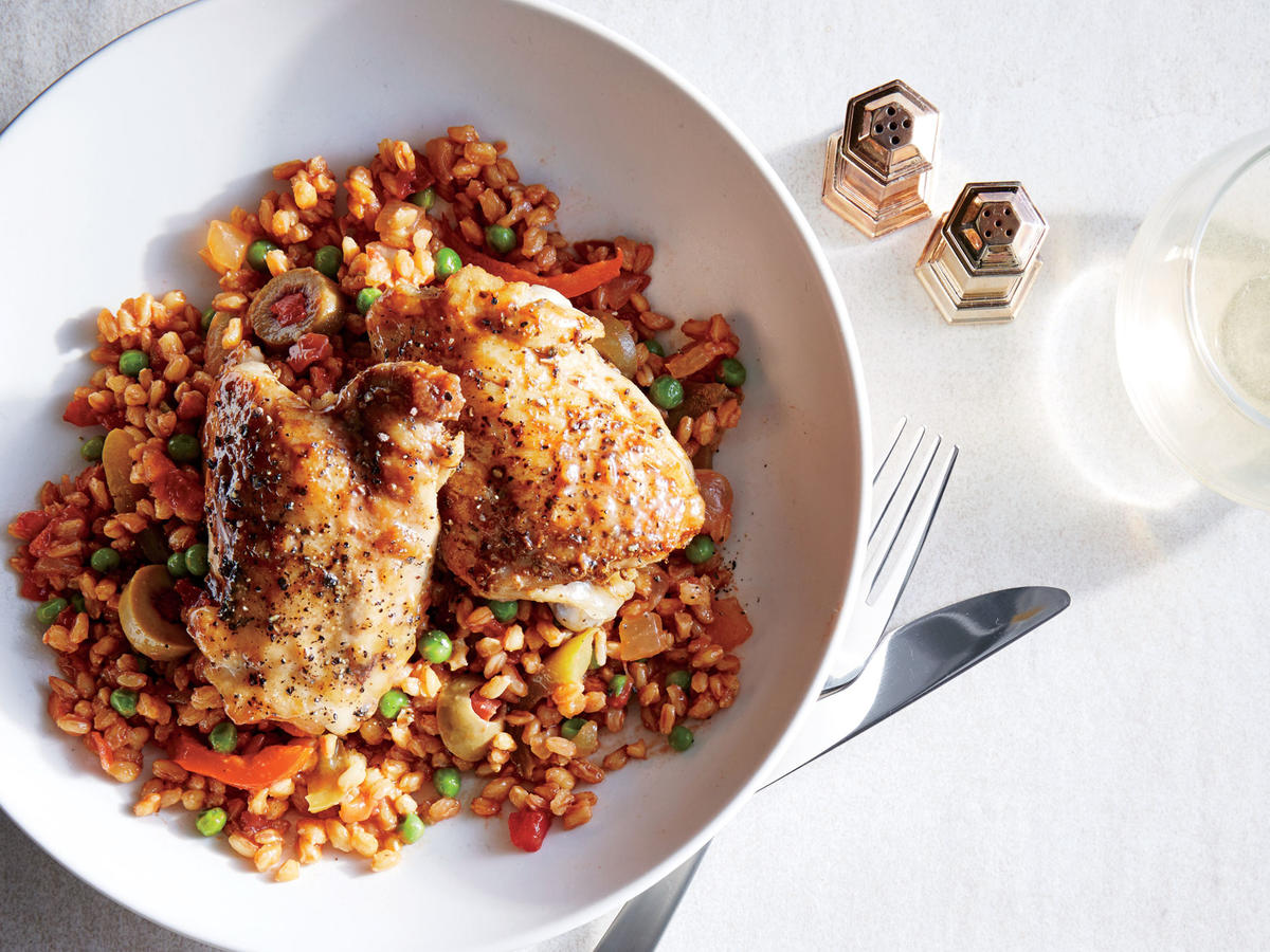 One-Pot Chicken with Farro