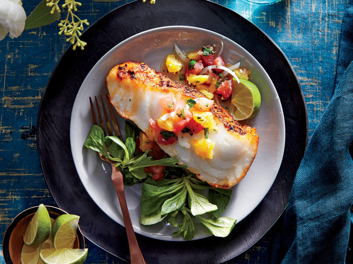 Sea Bass with Citrus Salsa