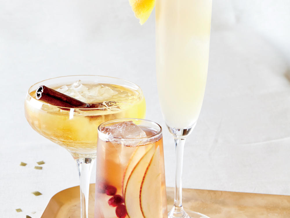 Sparklers say celebration like no other beverage. But a fizzy toast when the ball drops doesn't require dropping big bucks. Whipping up a batch of bubbly-backed cocktails is a simple way to stretch each bottle, all the while instilling party-perfect personality into your evening's signature sippers. Win your next holiday cocktail hour with this Ruby Spritzer. Cheers!