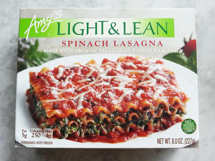 Amy's Light and Lean Spinach Lasagna Frozen Food