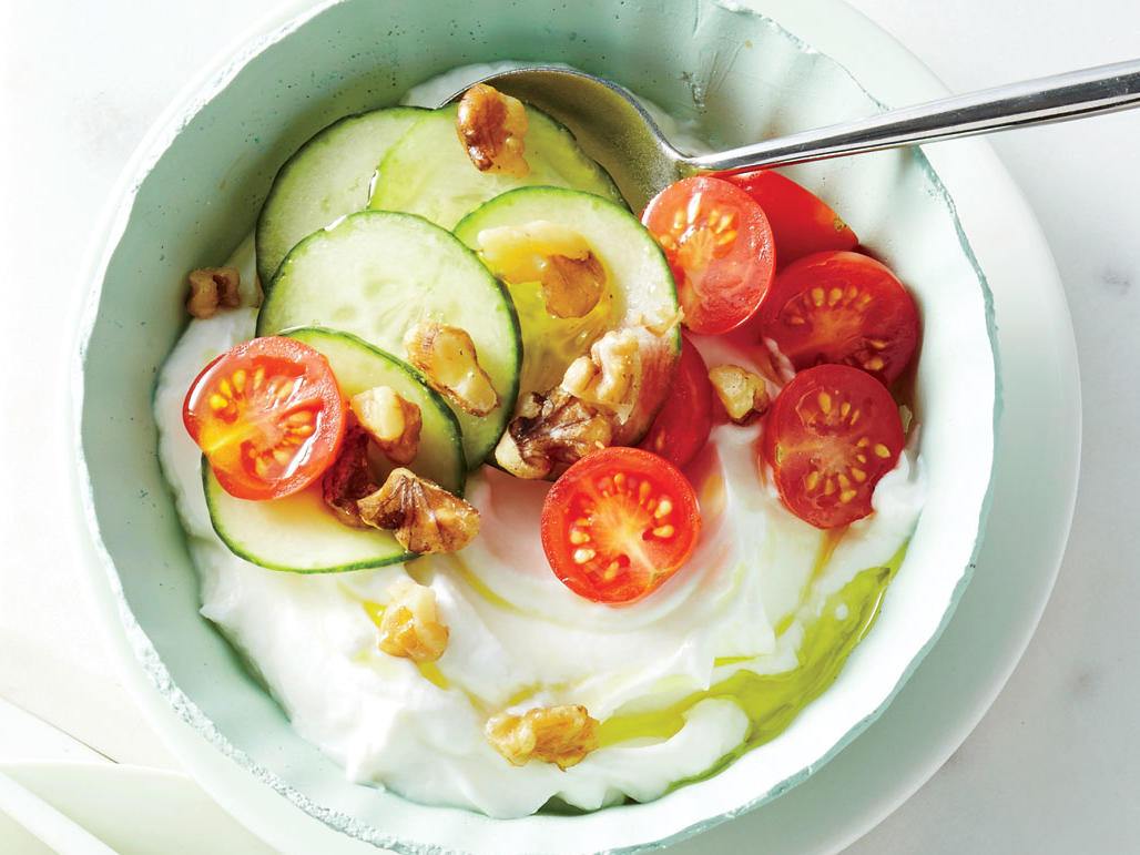 Cuke and Tomato Yogurt